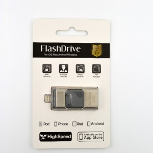 Флешка 3в1 mcro usb, usb, lighting